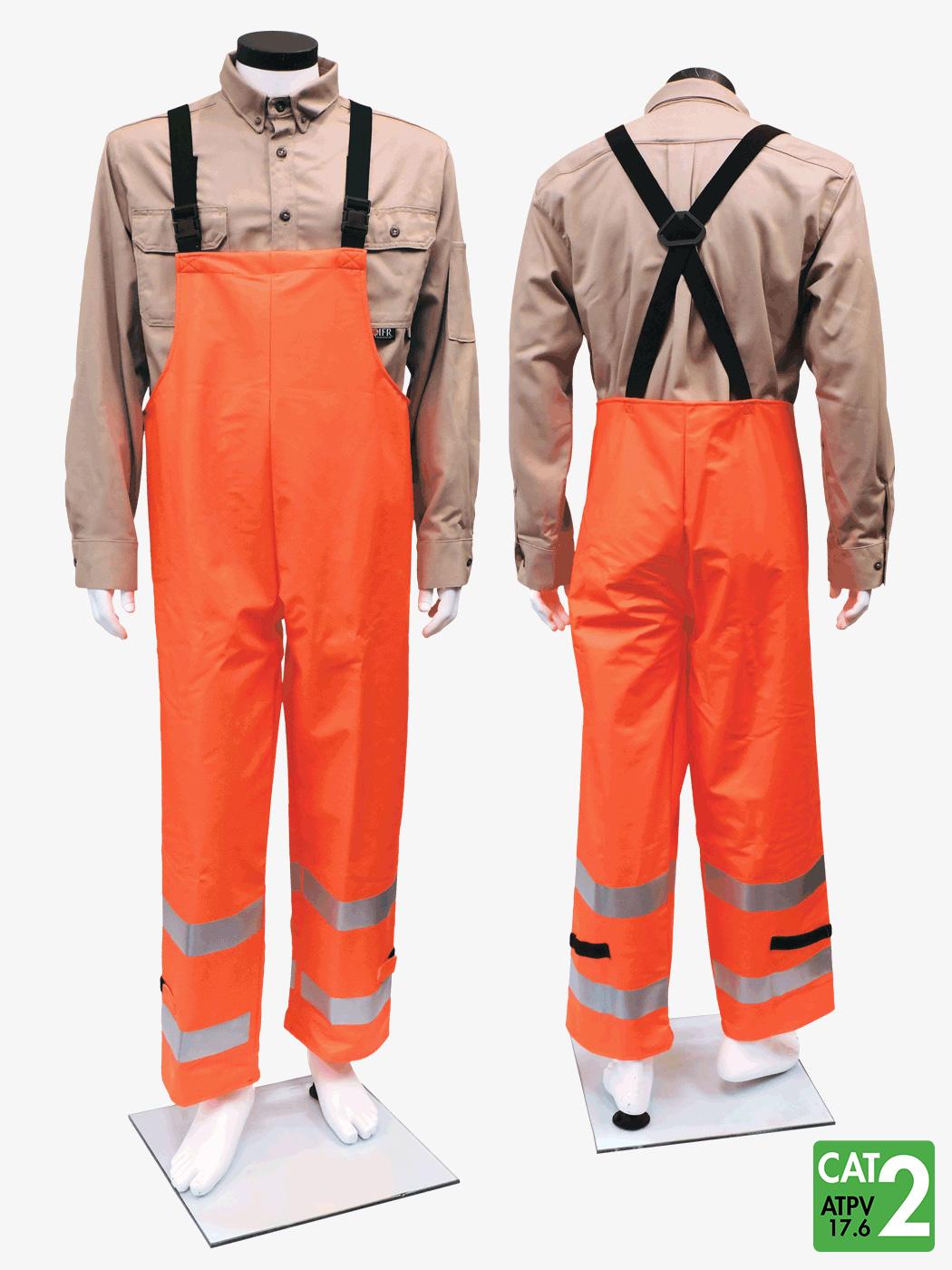 FLEXARC 10 oz Polyurethane/FR Cotton Bib Pants – Style 7215BT